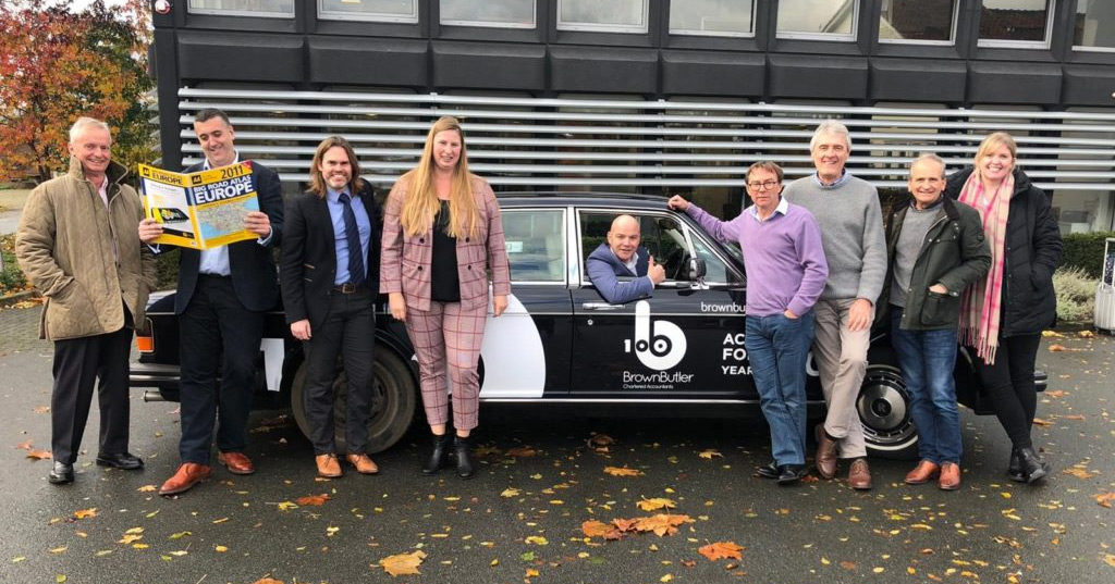 Beaujolais Challenge in a classic Rolls Royce in aid of Yorkshire Air Ambulance